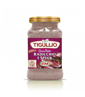 RED CHICORY AND SPECK PESTO - TIGULLIO 190GR