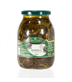 BROCCOLI FRIARIELLI IN OLIVE OIL IN JAR - ITALCAR 900GR