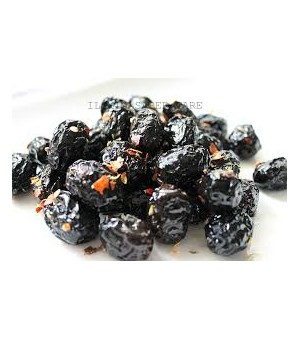 BLACK DRIED OLIVES WITH SEASONING - Masiello
