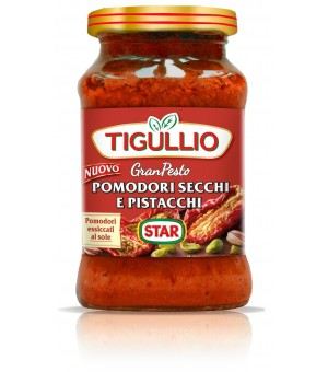 SUNDRIED TOMATOES AND PISTACHIO PESTO - TIGULLIO 190GR